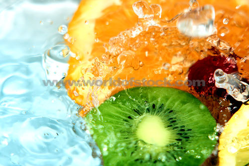 Percentage of water in fruits