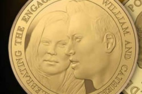 william and kate engagement coin. Prince William and Kate